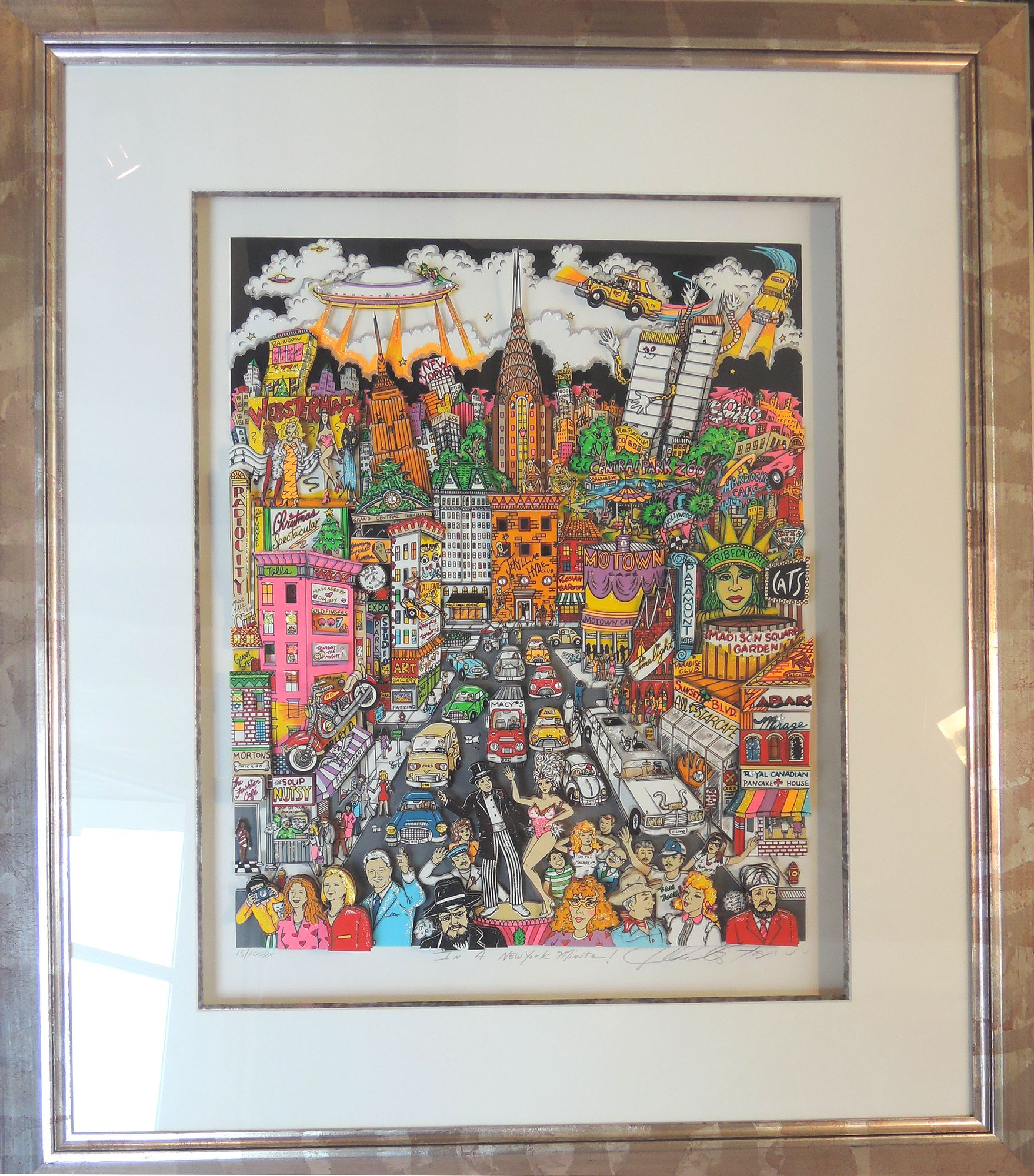 Prix D Un Tableau D Artiste à vendre : charles fazzino, tableau-volume en 3d - almanart