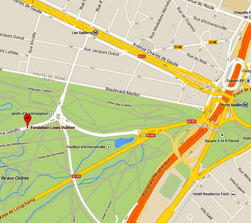fondation louis vuitton plan map