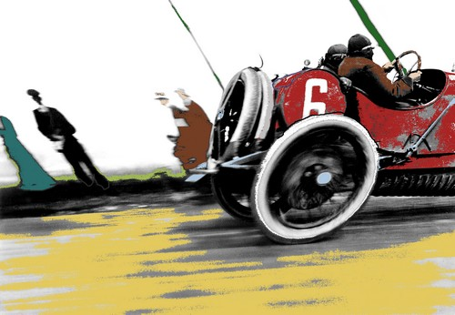 Jacques Henri Lartigue, Automobile Delage, Grand Prix de l'ACF