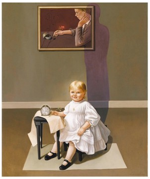 art Peinture Américaine Helen Lundeberg Double portrait of the Artist in Time