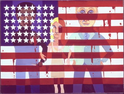 art Peinture Américaine Faith Ringgold American People Series The Flag is Bleeding