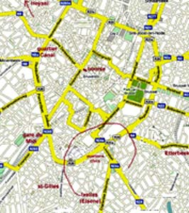 Bruxelles carte plan map