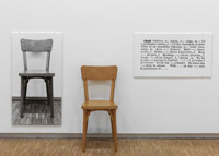 Joseph Kosuth One and Three Chairs