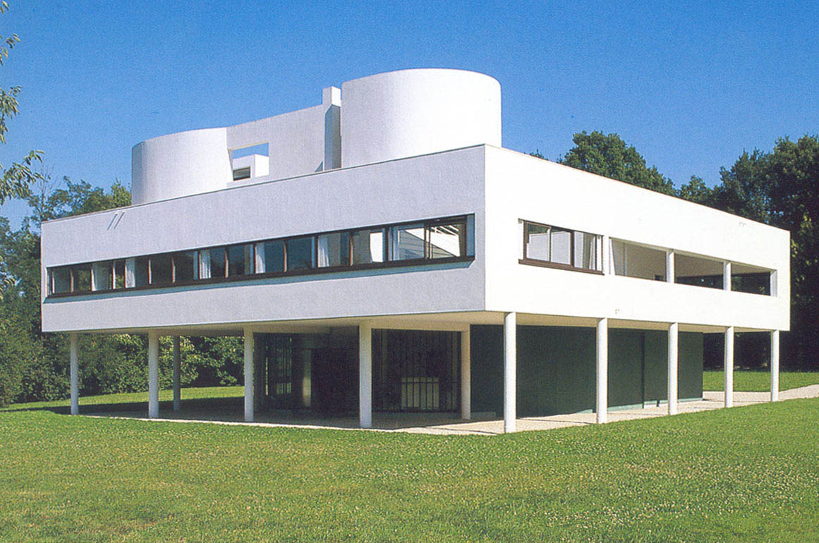 la villa savoye de le corbusier almanart. Black Bedroom Furniture Sets. Home Design Ideas