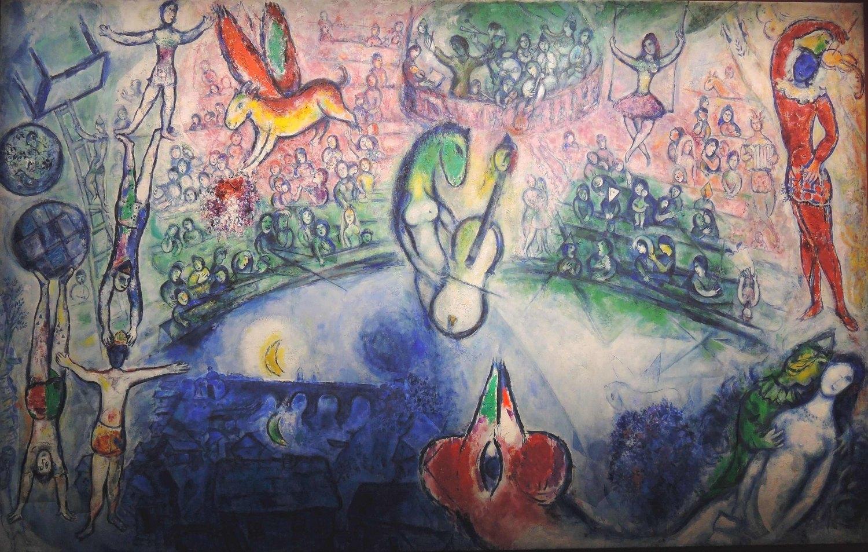 La commedia dell 39 arte de marc chagall almanart for Chagall tableau