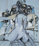 George Condo In The Brothel Demoiselles d'Avignon de Picasso