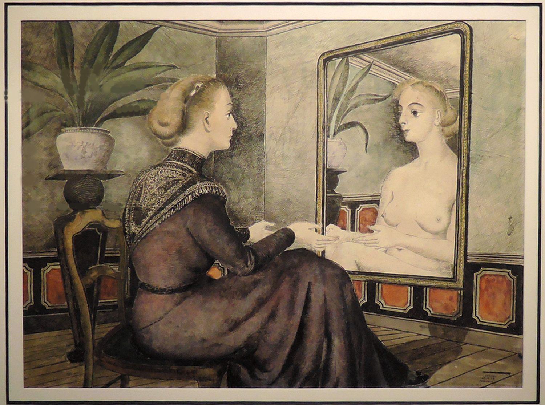 Image gallery miroir delvaux for Paul delvaux le miroir